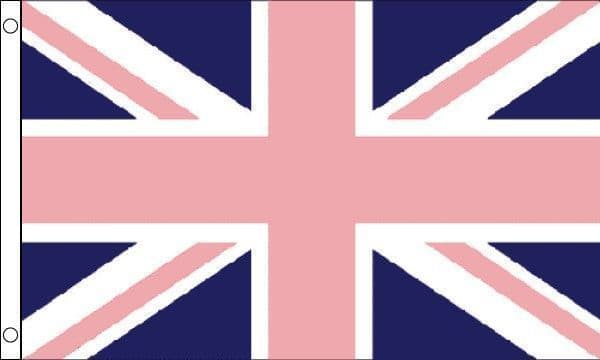 Union Jack Gay Pride With Pink Flag